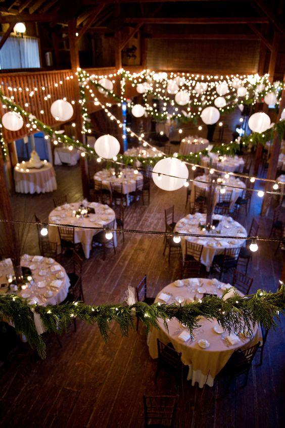Lichterketten und Lampions - Hochzeitsdeko Ideen