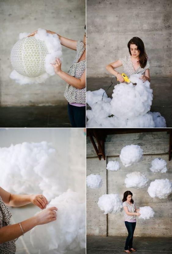 Hochzeitsdekoration Ideen – Flauschige Wolken