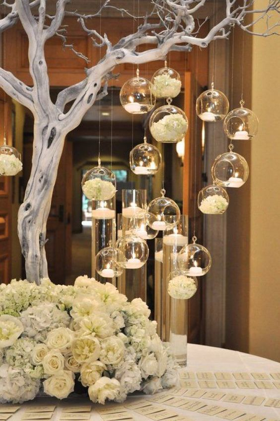 Hochzeitsdekoration selber machen – Kerzenbaum