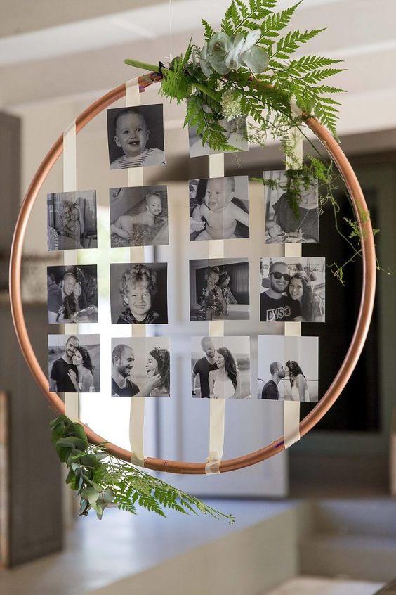 Fotocollage - Deko für Hochzeit