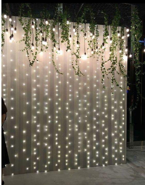 Lichtervorhang - Hochzeitsdekoration Ideen