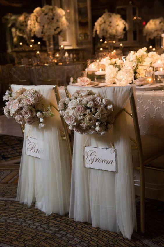 Romantische Stuhldeko - Hochzeitsdekoration selber machen