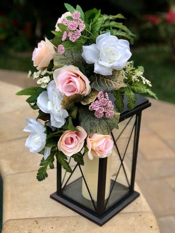 Hochzeitsdekoration Ideen – Geschmückte Laternen