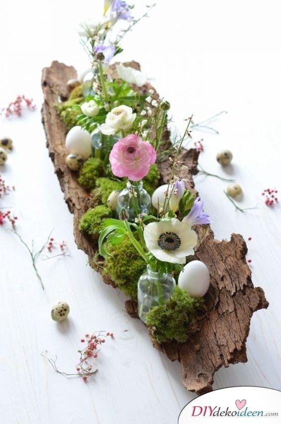Tischdekoration Hochzeit - Frühling Tischdeko Ideen mit Blumen