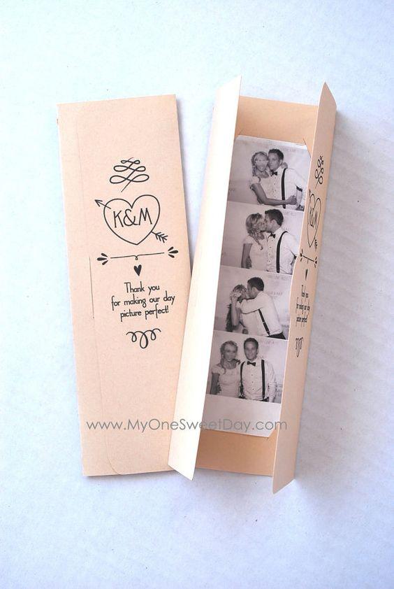 Einladungskarten zur Hochzeit selbst gestalten - Fotoautomat-Bildchen