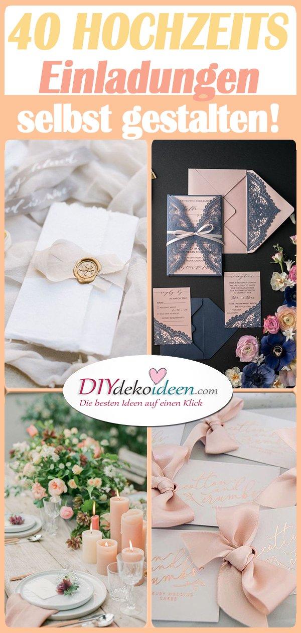 40 Hochzeitseinladungen 01 Diydekoideen Diy Ideen Deko