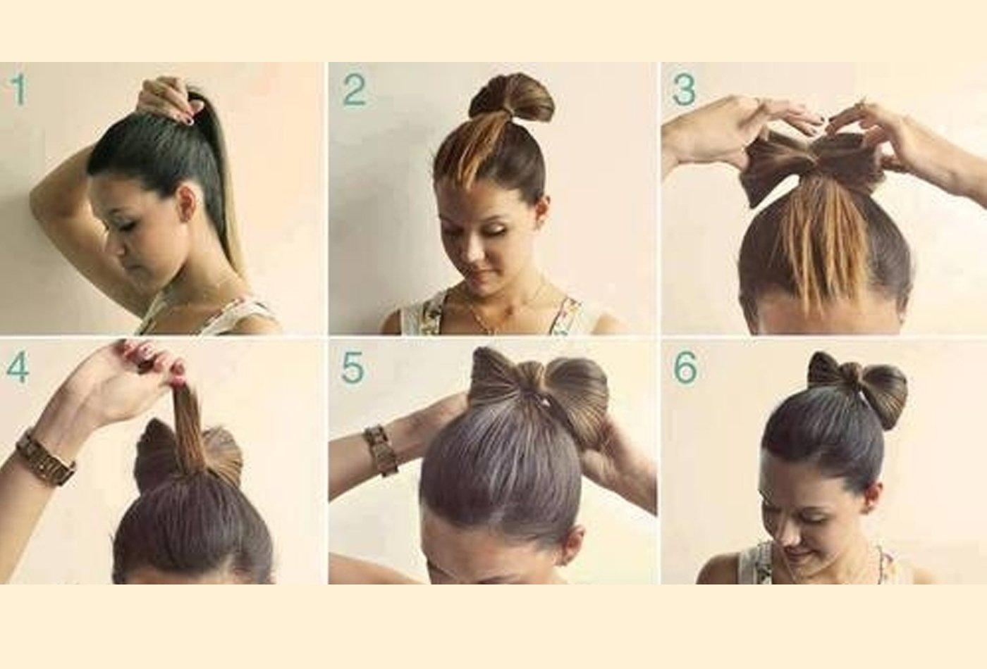 Niedliche Haarschleifchen - Anleitung