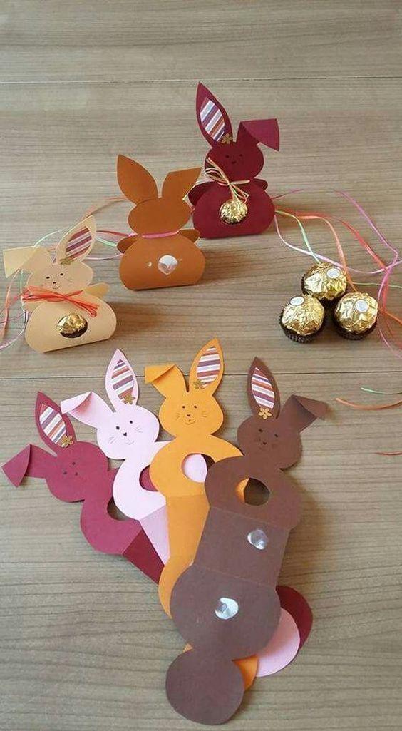 Kleine Geschenktütchen - Osterhasen Bastelideen