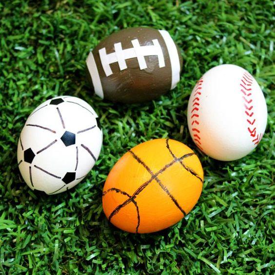 Sportliche Ostereier - Osterbasteln Ideen