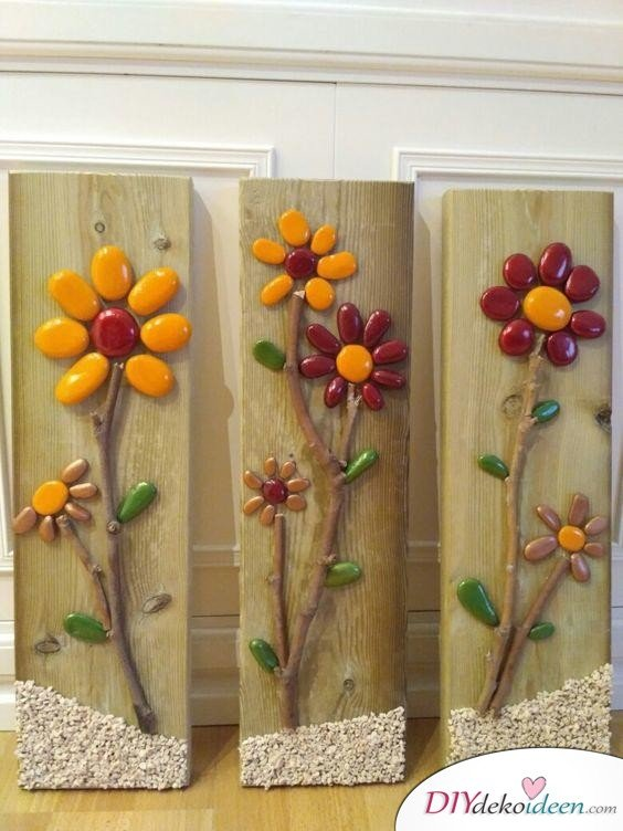 Frühlingsdeko basteln – Steinblumen