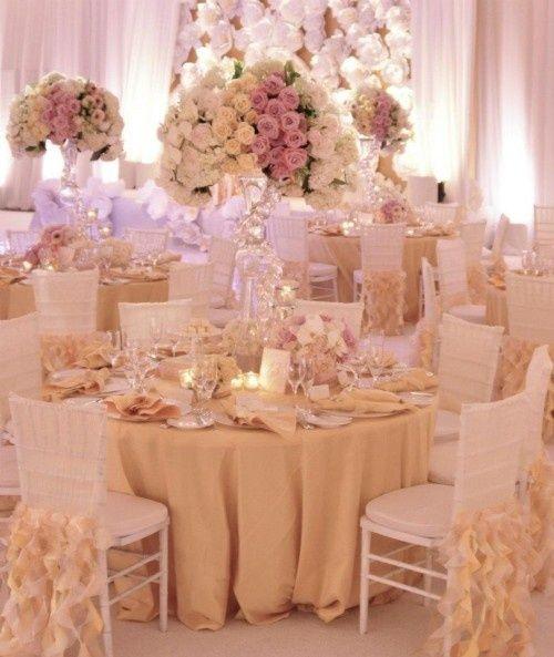 Ein Traum in Pastell - Hochzeit Tischdeko selber machen