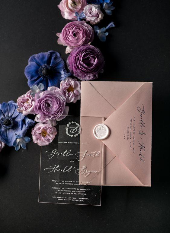 Einladungen zur Hochzeit mit Siegel