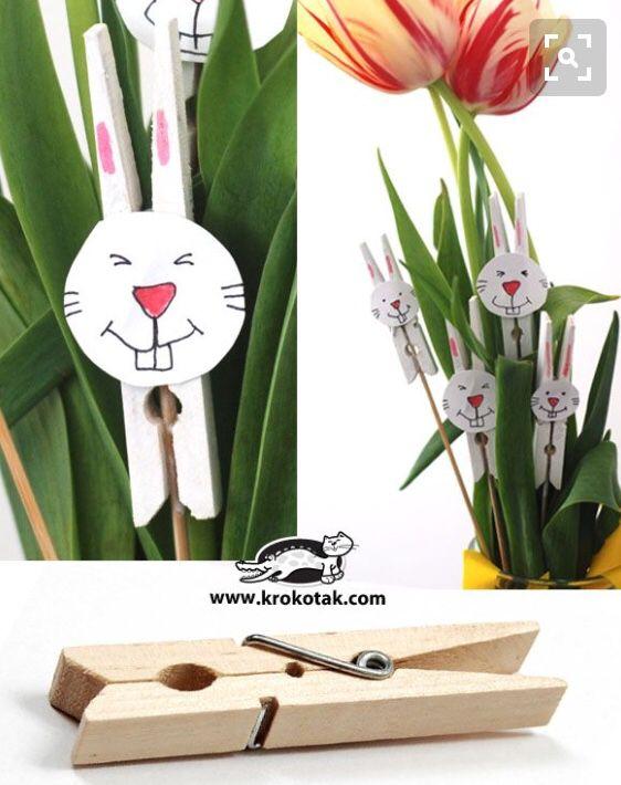 Osterhasenklammern - Frühlingsdekoration Ideen