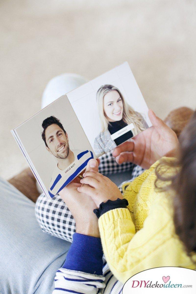 Dieses Familienfoto Bilderbuch wird das Lieblingsbuch des Kindes sein!