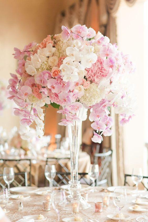 Exotischer Traum aus Orchideen - Hochzeit Tischdeko selber machen