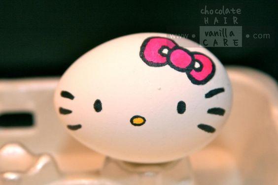 Hello Kitty – Ostereier basteln