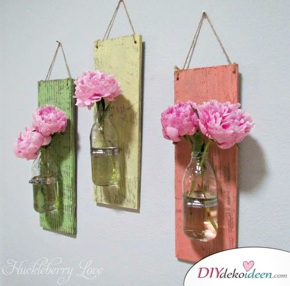 Hängende Vasen - Frühlingsdekoration Ideen