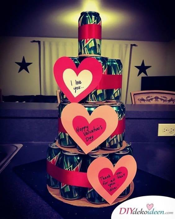 Last Minute Valentinstagsgeschenke - Getränkepyramide