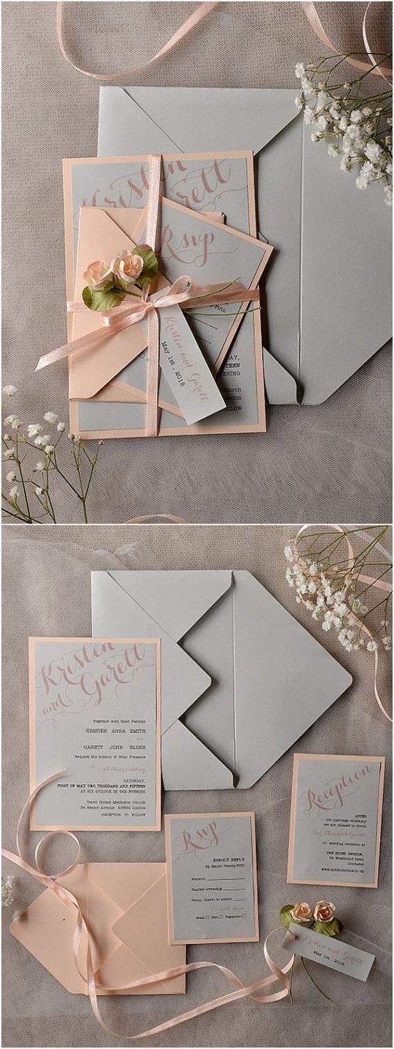 Einladungskarten zur Hochzeit selbst gestalten – Rosen und Schleifchen