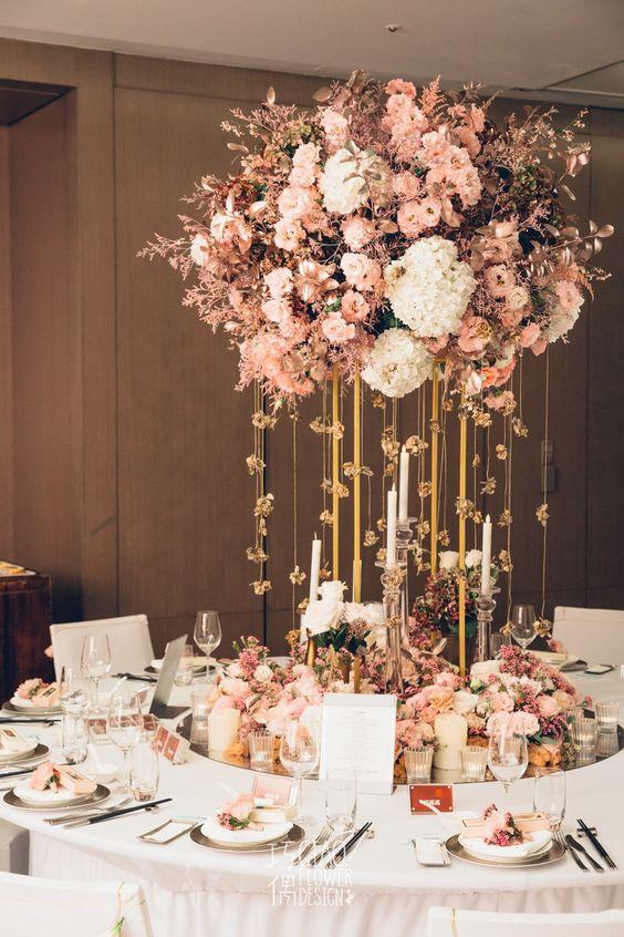 Große Blumenkugel - Hochzeitsdekoration