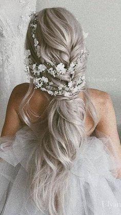 Französischer Zopf - Hochzeitsfrisuren lange Haare