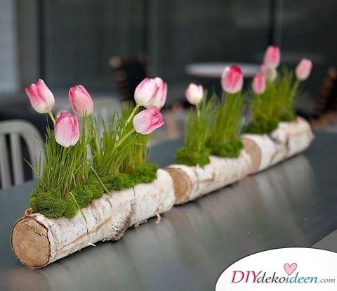 Tischdeko Hochzeit selber machen – frühlingshaftes Blumengesteck