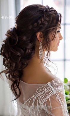 Hochzeitsfrisuren lange Haare – Halb offene Frisur
