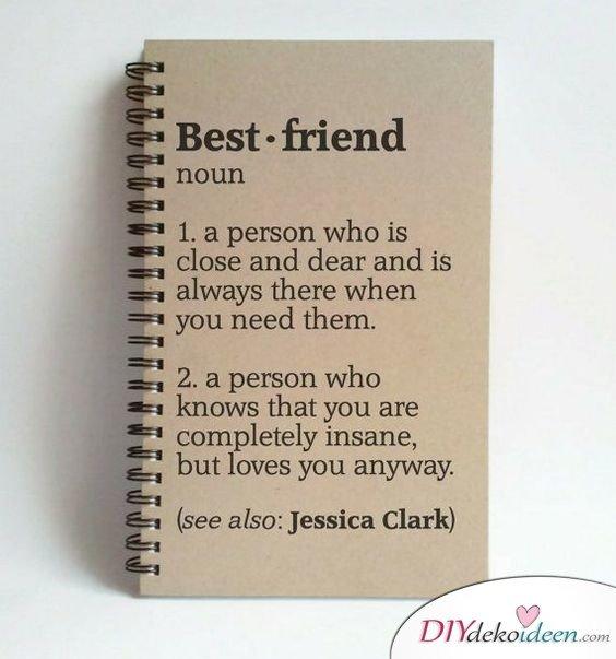 Die Definition der besten Freundin - persönliches Geschenk für beste Freundin