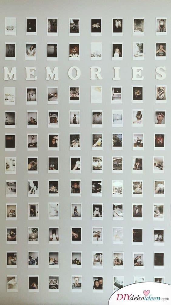 Fotowand voller Erinnerungen - Geschenkideen für Frauen selber machen