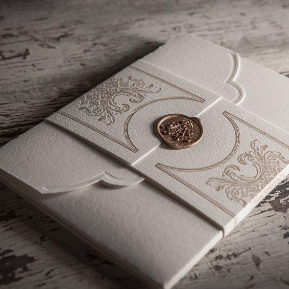 Hochzeitseinladungen selbst gestalten mit Siegel