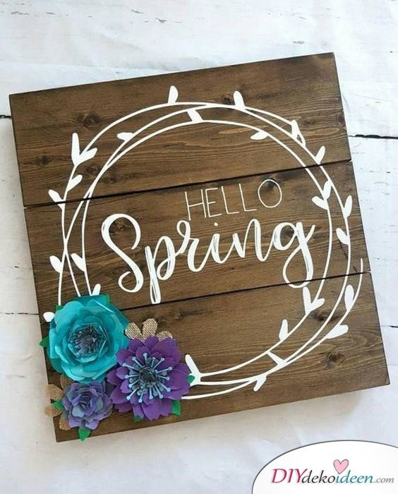 Hallo, Frühling - Frühlingsdeko selber machen