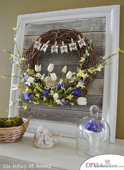 Frühlingsdekoration - Osterbasteln Ideen