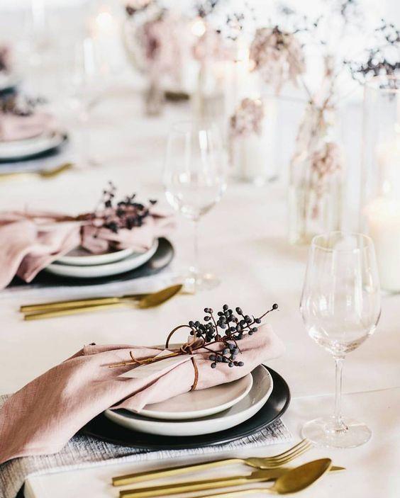 Hochzeit Tischdeko selber machen ganz ohne Blumen