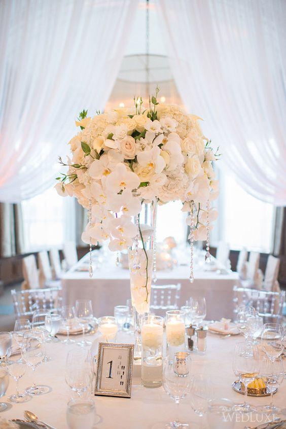Blumenkugel - Hochzeit Tischdekoration Ideen