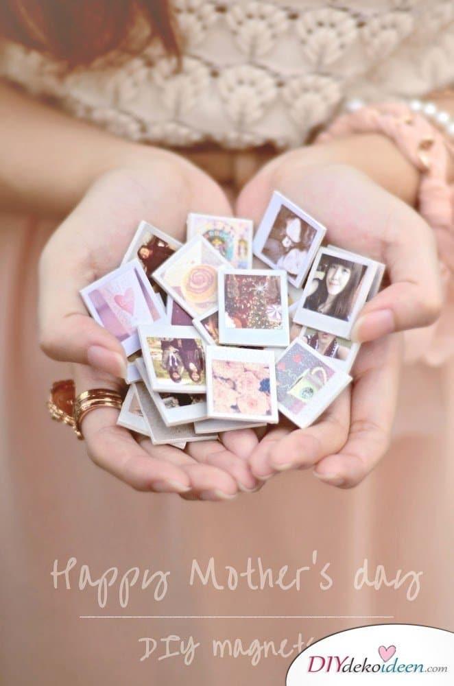 DIY Foto-Magnete - kleine Geschenke für Freundin