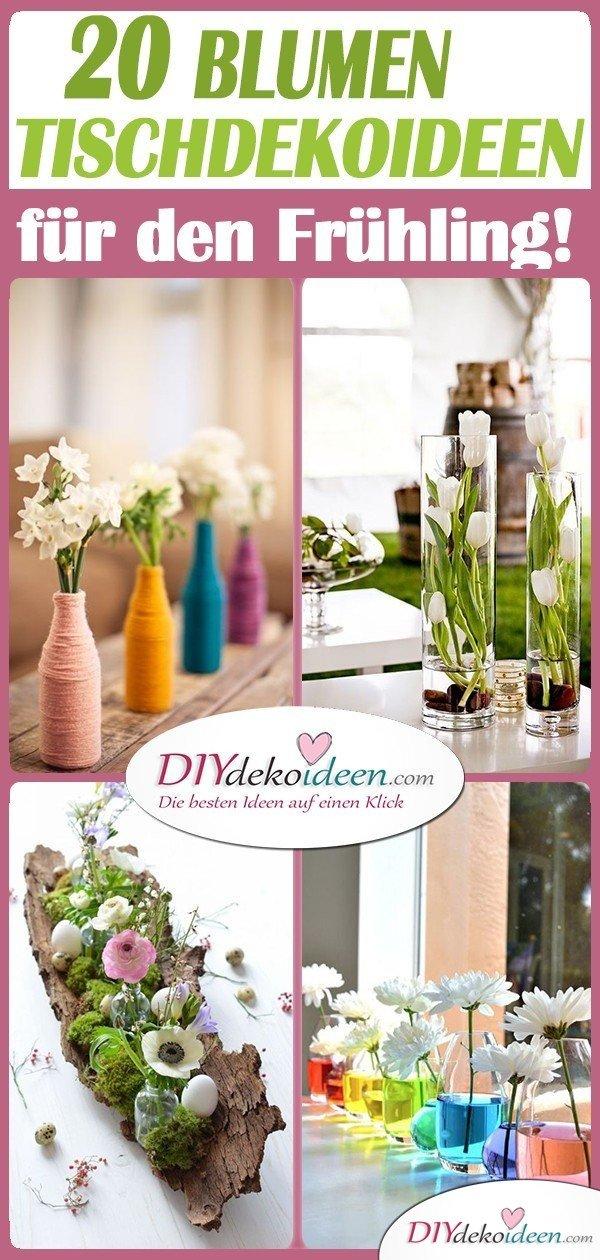 20 Frühling Tischdeko Ideen mit Blumen -Tischdeko Frühling selber machen