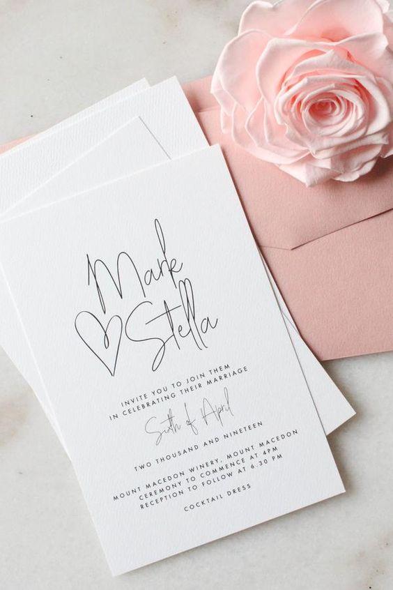 Hochzeitseinladungen selbst gestalten – Einladungen mit Herz