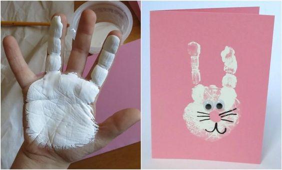 Ostergrußkarten - basteln mit Kindern Frühling