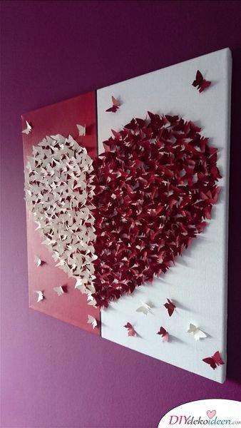 Romantische Schmetterlingswandkunst - Valentinstag Geschenke für Frauen