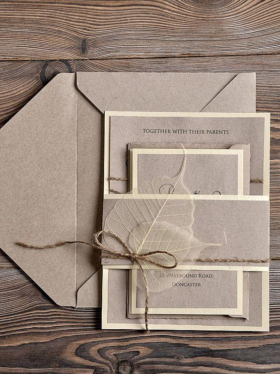 Zurück zur Natur - Einladungskarten zur Hochzeit selbst gestalten