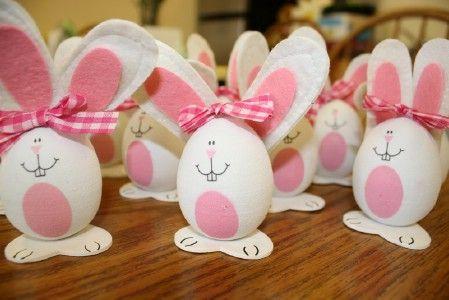 Hasen-Eier basteln für Ostern