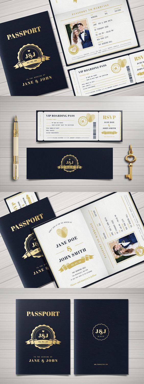 Reisepass zur Hochzeit - Hochzeitskarten Ideen