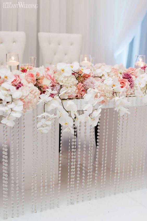 Orchideen und Kerzen - Hochzeit Tischdeko selber machen
