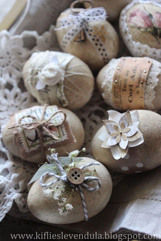 Eier mit Spitze - Ostereier basteln