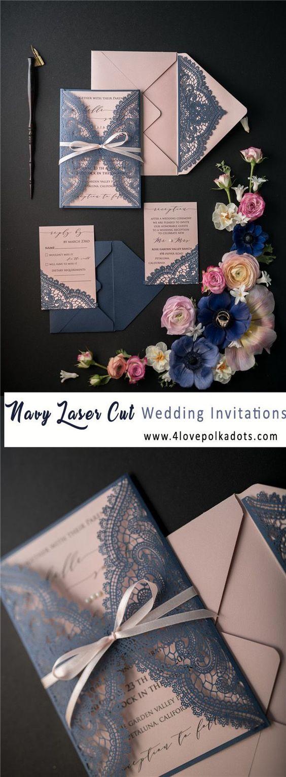 Hochzeitseinladungen selbst gestalten mit Spitze
