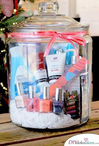 Spa-Besuch im Glas - Geburtstagsgeschenke für Frauen