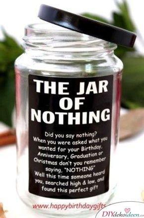 Ein Glas voll Nichts - Geschenk für beste Freundin selber machen