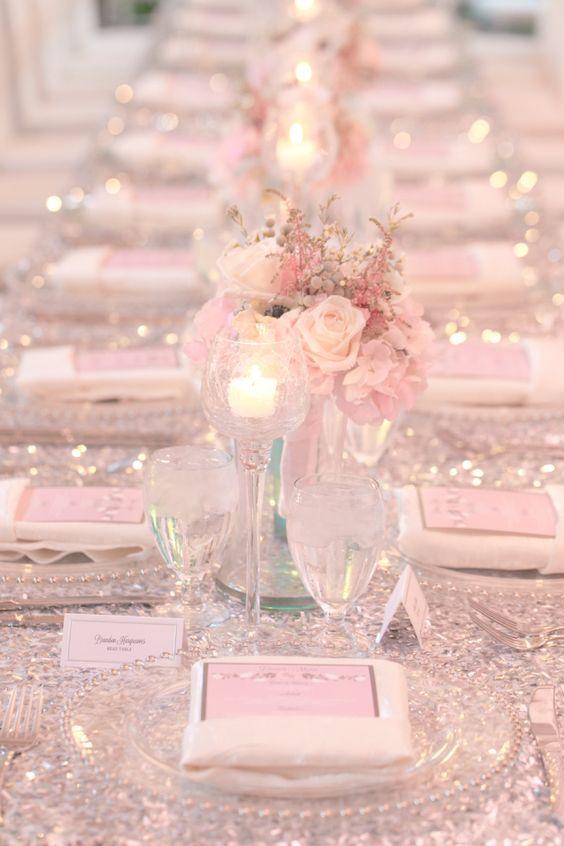 Hochzeit Tischdekoration Ideen – Mädchentraum in Rosa