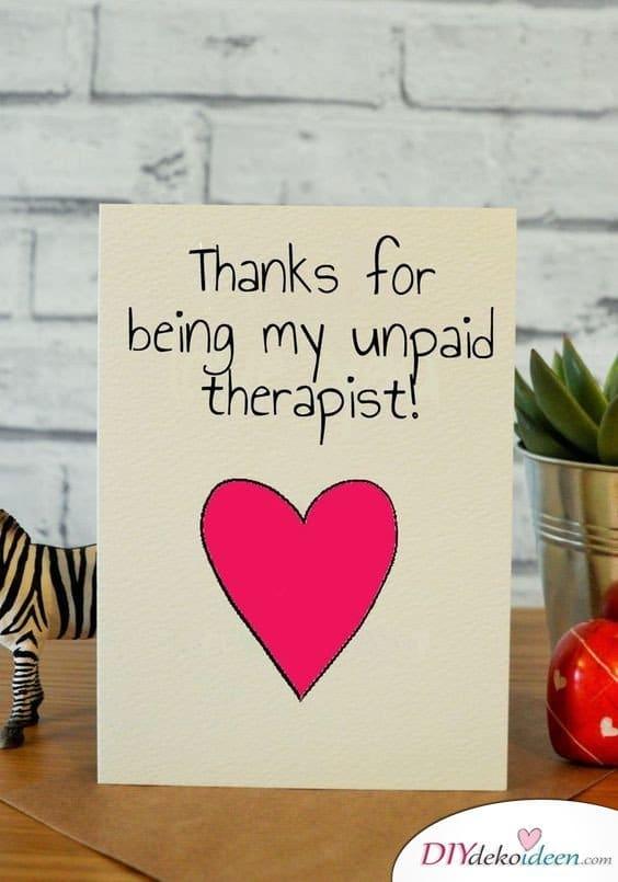 Dankeskarte - Geschenkideen für Frauen selber machen