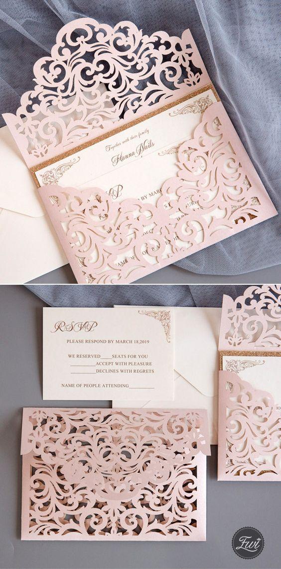 Filigraner Briefumschlag - Hochzeitskarten Ideen